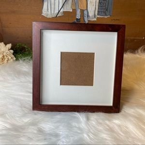 Pottery Barn Wood Tone Matted Square Stand Frame